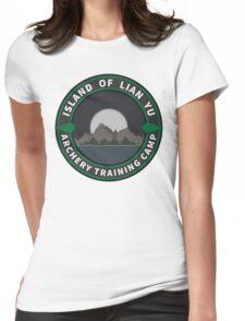 Island of Lian Yu - Archery Training Camp Womens Fitted T-Shirt
