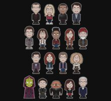 New Who Doctors and Companions (shirt) by redscharlach