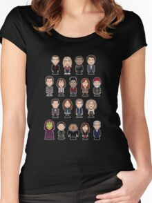 New Who Doctors and Companions (shirt) Women's Fitted Scoop T-Shirt