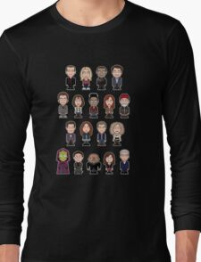 New Who Doctors and Companions (shirt) Long Sleeve T-Shirt