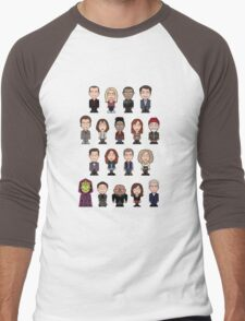 New Who Doctors and Companions (shirt) Men's Baseball ¾ T-Shirt