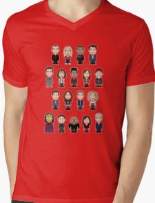New Who Doctors and Companions (shirt) Mens V-Neck T-Shirt