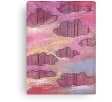 Pink stripy clouds ruled the evening skies. Canvas Print