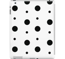 Black & White spots iPad Case/Skin