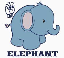 E is for Elephant - ASL Kids Tee