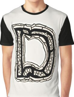 Black and White Letter D Graphic T-Shirt