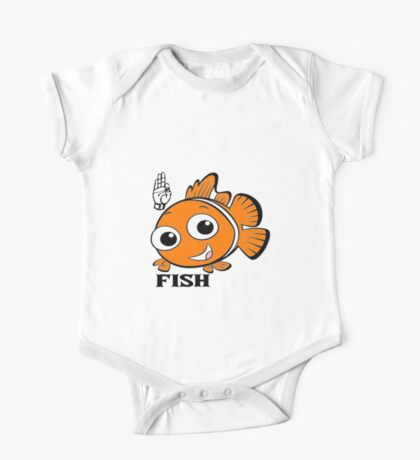 F is for Fish One Piece - Short Sleeve