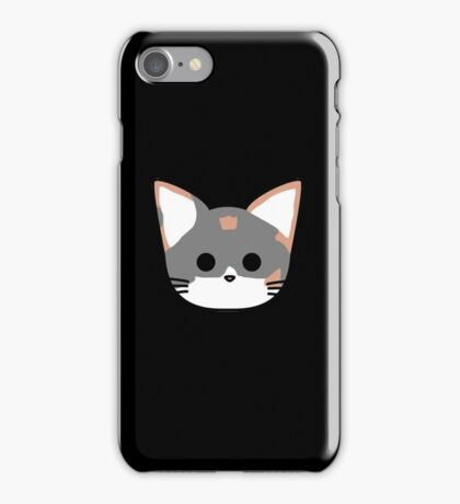Clio Cat Head - Black iPhone Case/Skin