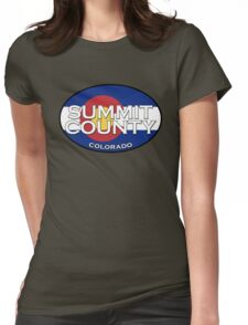 Summit County Colorado!  Breckenridge!  State flag design Womens Fitted T-Shirt