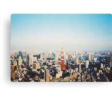 Tokyo Cityscape Shot on Film (Porta 400) Canvas Print