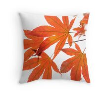 Orange Leaves of Japanese Maple Throw Pillow