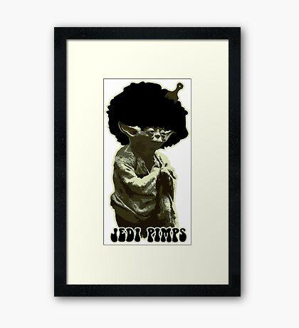 Yoda Jedi Pimps Framed Print