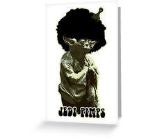 Yoda Jedi Pimps Greeting Card