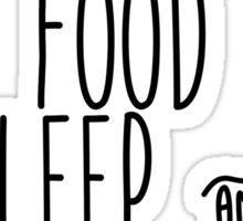 Facebook Food Sleep and Netflix Sticker