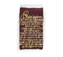 'Night Gathers...' Duvet Cover