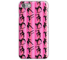 PRETTY PINK STRIPED GYMNASTICS PRINT iPhone Case/Skin