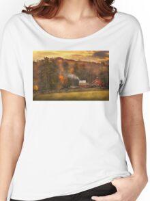 Autumn - Farm - Morristown, NJ - Charming farming Women's Relaxed Fit T-Shirt