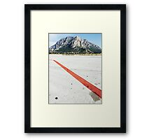 Red Line on Airfield Framed Print
