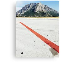 Red Line on Airfield Canvas Print