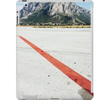 Red Line on Airfield iPad Case/Skin