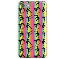 COLORFUL RAINBOW STRIPED GYMNASTICS PRINT iPhone Case/Skin