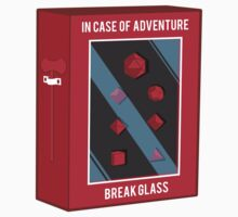 In Case of Adventure Break Glass - Red Dice One Piece - Short Sleeve