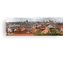 Panorama of Zagreb Canvas Print