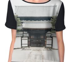 Old Japanese Temple in Kyoto Japan Chiffon Top