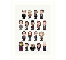 New Who Doctors and Companions (poster/card) Art Print