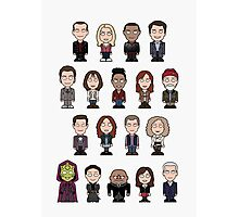 New Who Doctors and Companions (poster/card) Photographic Print