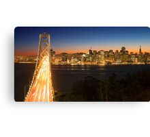 San Francisco Skyline at Night Canvas Print