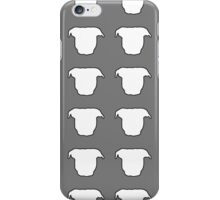 Pit Bull Heads Grey iPhone Case/Skin