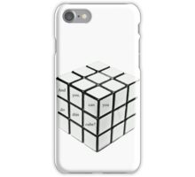 rubik's cube blanc iPhone Case/Skin