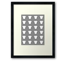 Pit Bull Heads Grey Framed Print