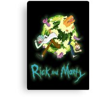 Rick and Morty (BLACK) Canvas Print
