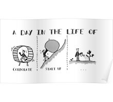 Escape The Hamster Wheel - Without Link Poster