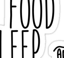 Instagram Food Sleep and Netflix Sticker