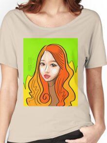Orange girl portrait Women's Relaxed Fit T-Shirt
