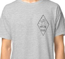 """Take Me Home"" Geometric UFO Classic T-Shirt"