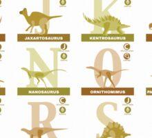 Dinosaur Alphabet Sticker