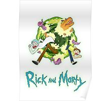 Rick and Morty (WHITE) Poster