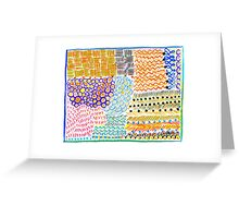 Colorful abstract background pattern Greeting Card