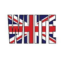 White (UK) Photographic Print