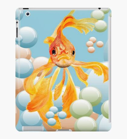Vermillion Goldfish Blowing Bubbles iPad Case/Skin