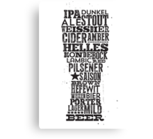 All Answers are in your beer glass Canvas Print