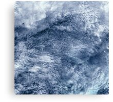 Abstract Clouds Over Ocean Satellite Image Canvas Print