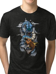 POKEMON - Magikarp evolves into Gyarados! - Japanese Tattoo Style Tri-blend T-Shirt