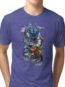 POKEMON - Magikarp evolves into Gyarados! - Japanese Tattoo Style Tri-blend T-Shirt