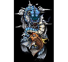 POKEMON - Magikarp evolves into Gyarados! - Japanese Tattoo Style Photographic Print