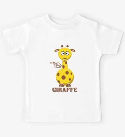 G is for Giraffe  Kids Tee